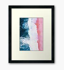 Aerial Beach, Ocean Waves Framed Print