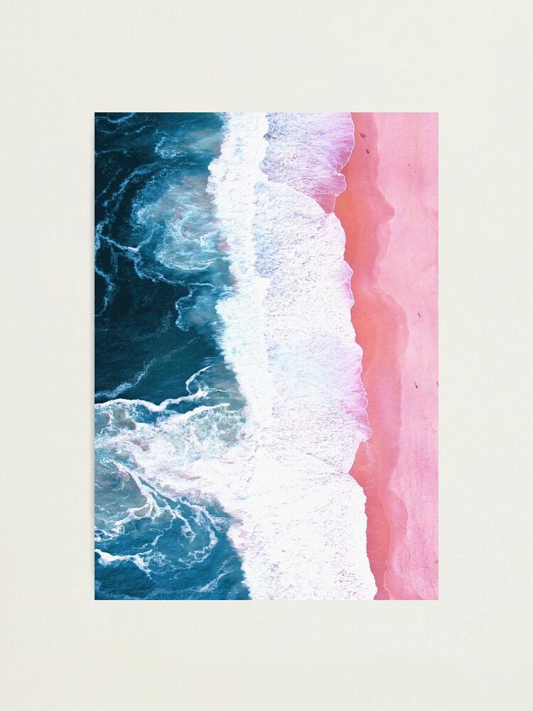 Alternate view of Aerial Beach, Ocean Waves Photographic Print