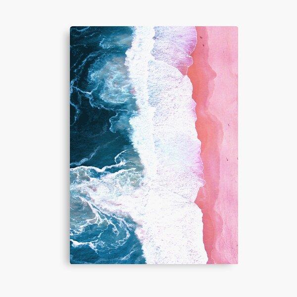 Aerial Beach, Ocean Waves Canvas Print