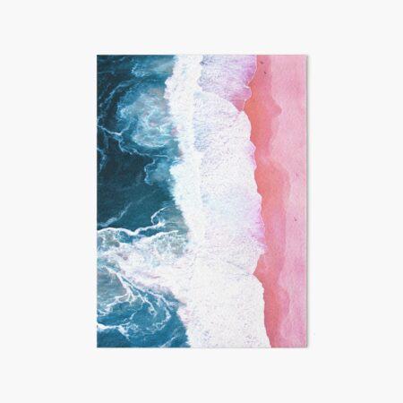 Aerial Beach, Ocean Waves Art Board Print