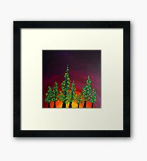 Tree Line at Gloaming Framed Print
