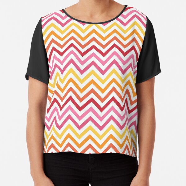 Rainbow Chevron #1 Chiffon Top
