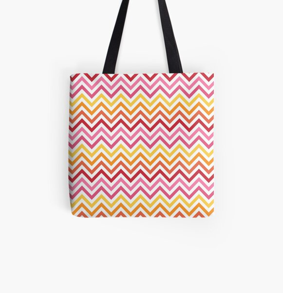 Rainbow Chevron #1 All Over Print Tote Bag