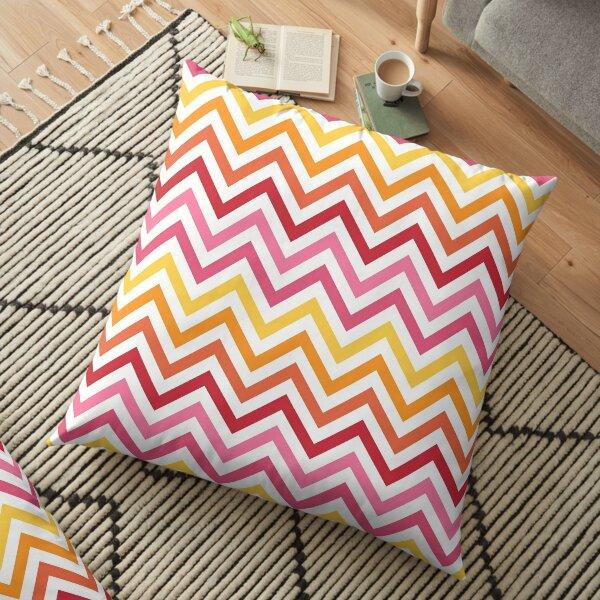 Rainbow Chevron #1 Floor Pillow