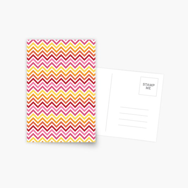 Rainbow Chevron #1 Postcard