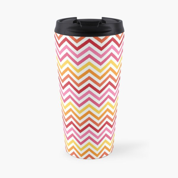 Rainbow Chevron #1 Travel Mug