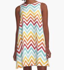 Rainbow Chevron #2 A-Line Dress