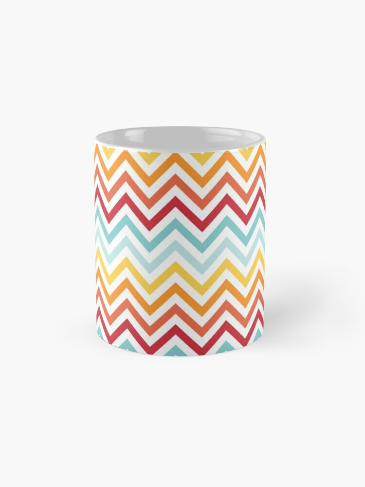 Alternate view of Rainbow Chevron #2 Mug