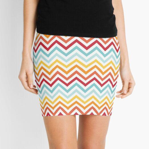 Rainbow Chevron #2 Mini Skirt
