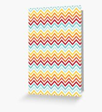 Rainbow Chevron #2 Greeting Card