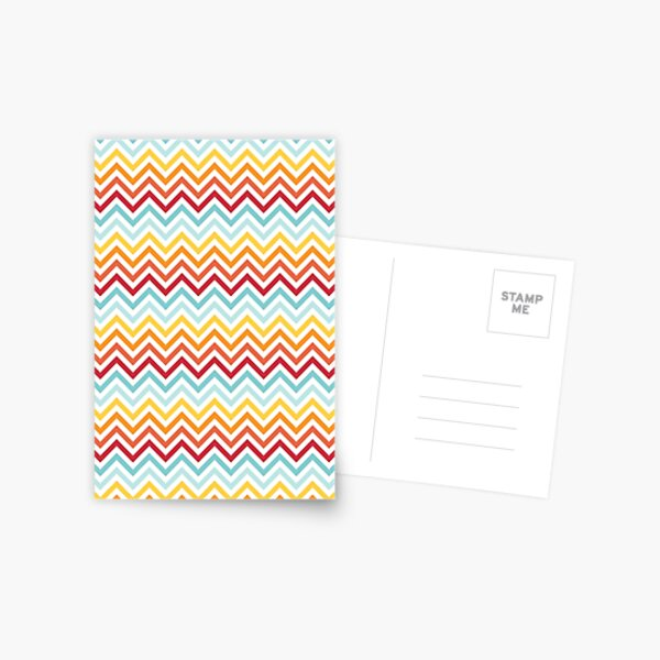 Rainbow Chevron #2 Postcard
