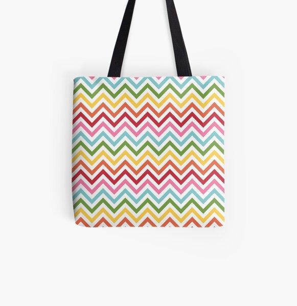 Rainbow Chevron #3 All Over Print Tote Bag