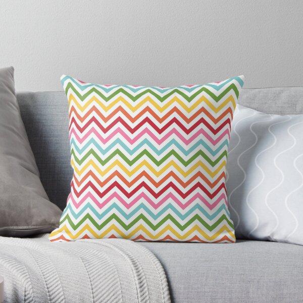 Rainbow Chevron #3 Throw Pillow