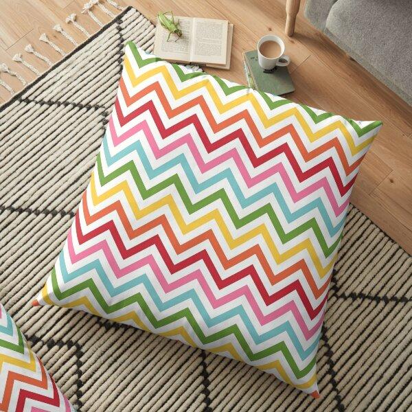 Rainbow Chevron #3 Floor Pillow