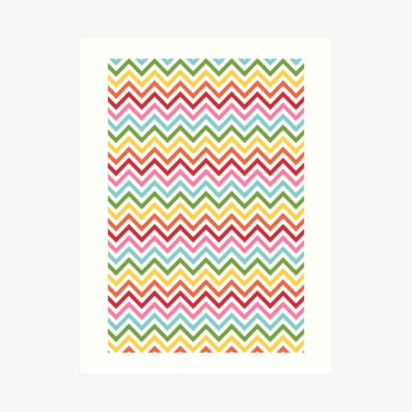 Rainbow Chevron #3 Art Print