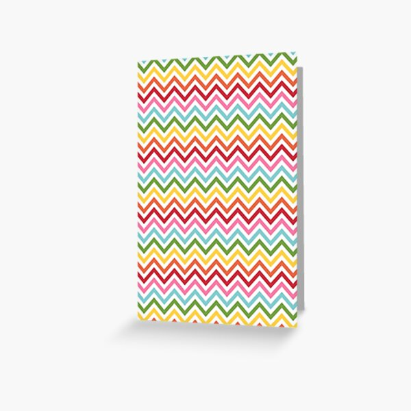 Rainbow Chevron #3 Greeting Card