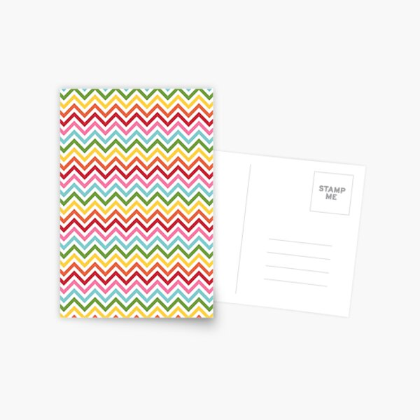 Rainbow Chevron #3 Postcard