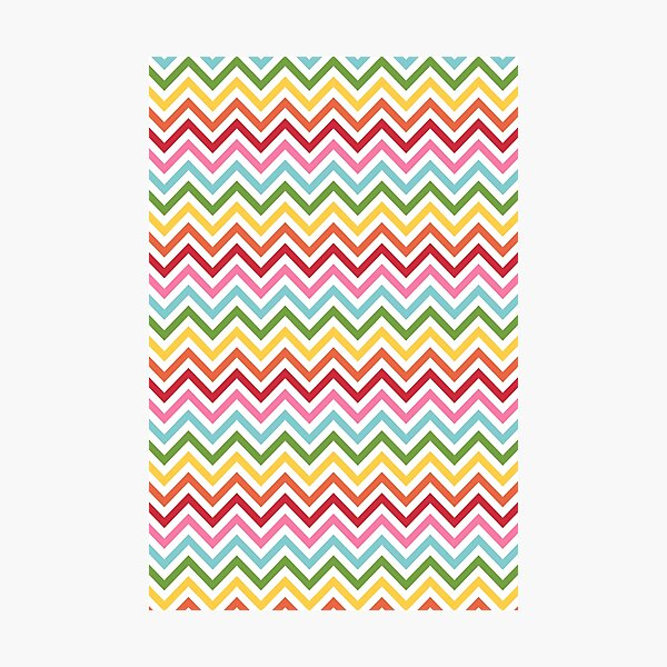 Rainbow Chevron #3 Photographic Print