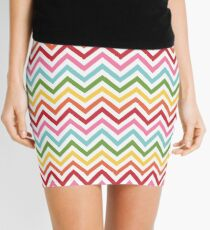 Rainbow Chevron #3 Mini Skirt