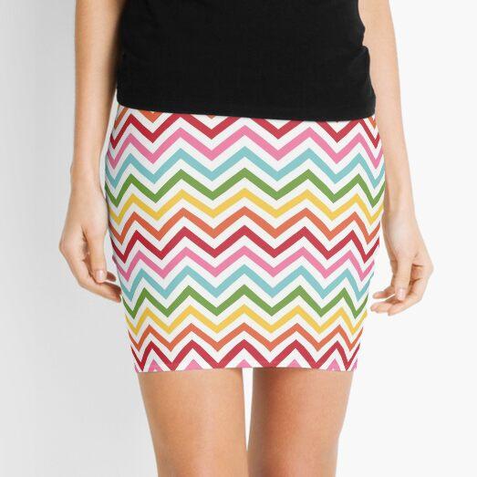 Rainbow Chevron #3 Mini Skirt