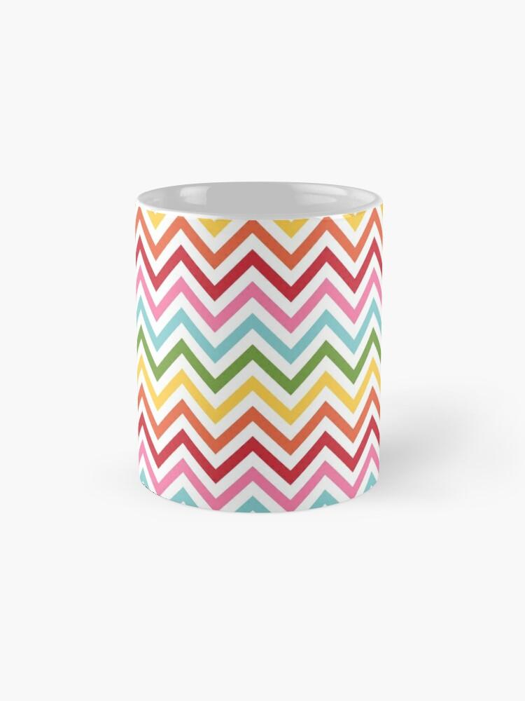 Alternate view of Rainbow Chevron #3 Mug