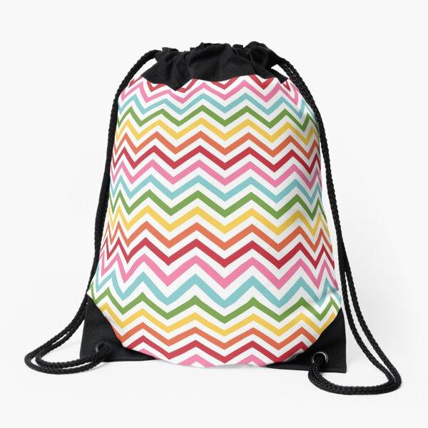 Rainbow Chevron #3 Drawstring Bag
