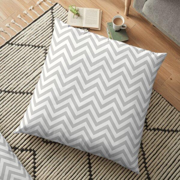 Grey Chevron Floor Pillow