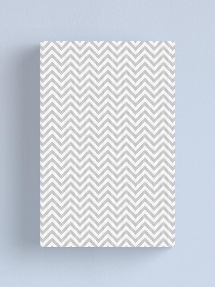 Alternate view of Grey Chevron Canvas Print