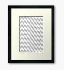 Grey Chevron Framed Print