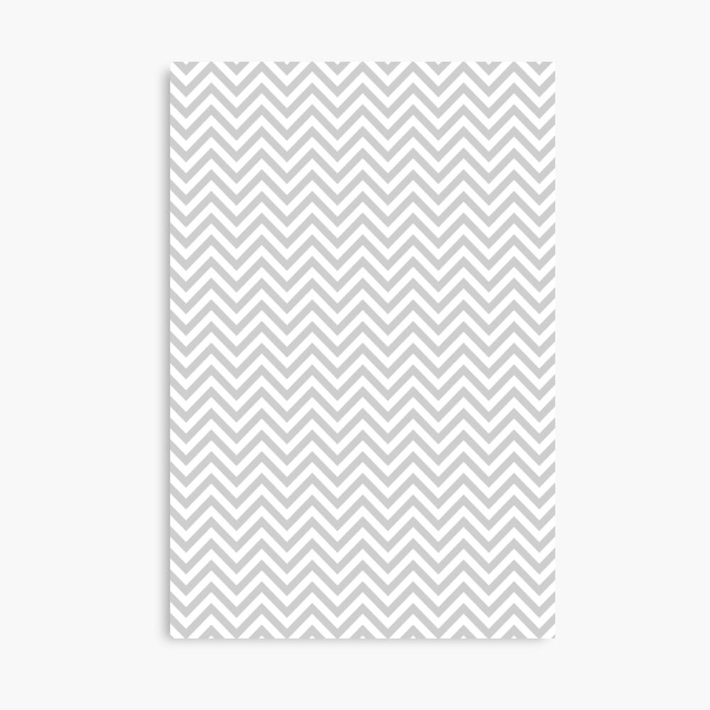 Grey Chevron Canvas Print