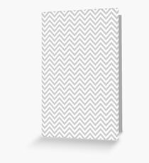 Grey Chevron Greeting Card