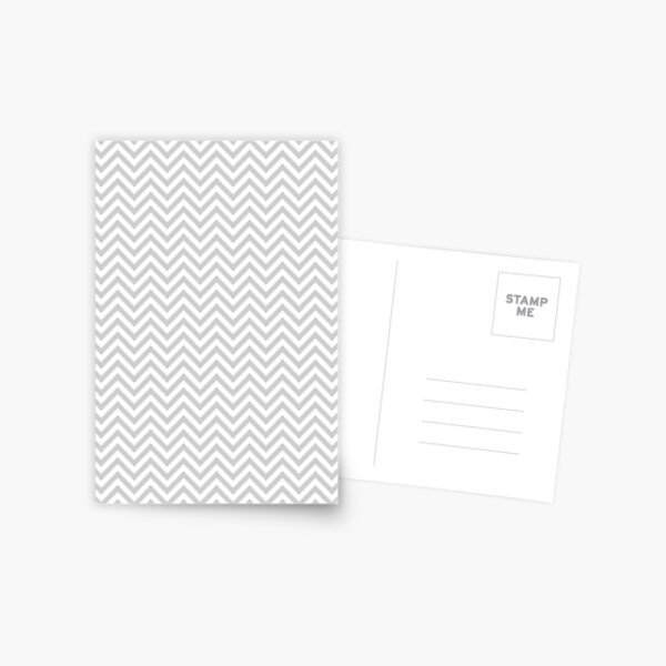Grey Chevron Postcard
