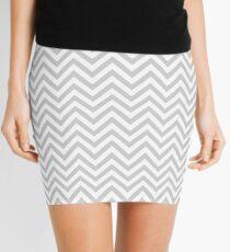 Grey Chevron Mini Skirt