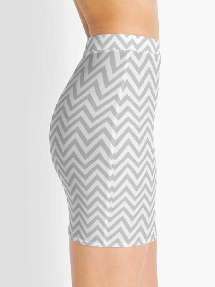 Alternate view of Grey Chevron Mini Skirt