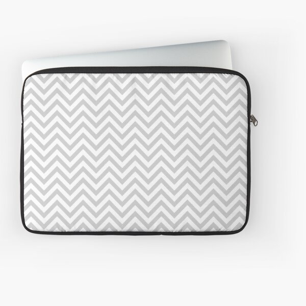 Grey Chevron Laptop Sleeve