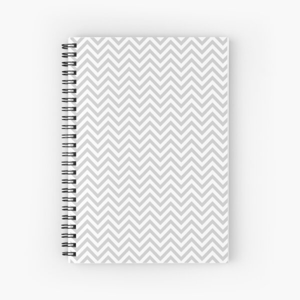 Grey Chevron Spiral Notebook