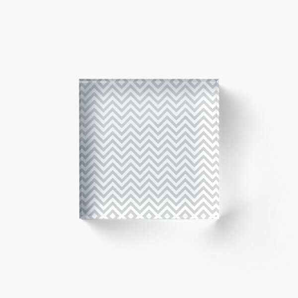 Grey Chevron Acrylic Block