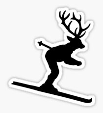 Ski Stag (Deer) Sticker