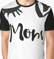 Eye-Love Mom Design Graphic T-Shirt