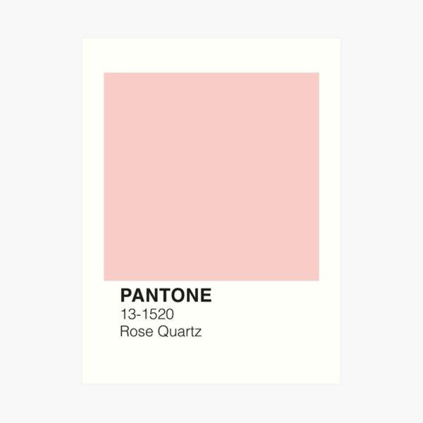 Rose Quartz Pantone Art Print