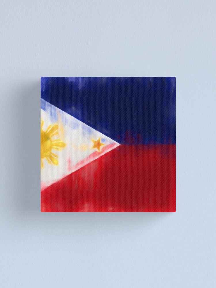 Alternate view of Filipino Flag No. 1, Series 1 Canvas Print