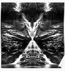 Eastatoe Falls Mirrored Poster
