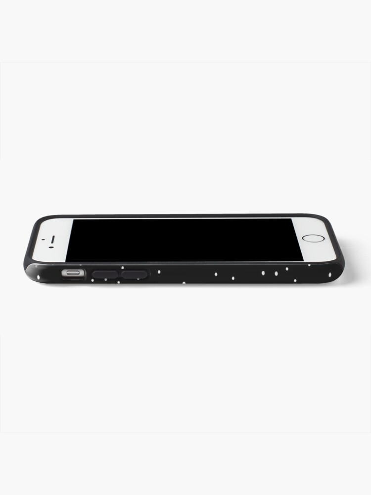 Alternate view of Random Dots on Black iPhone Case & Cover