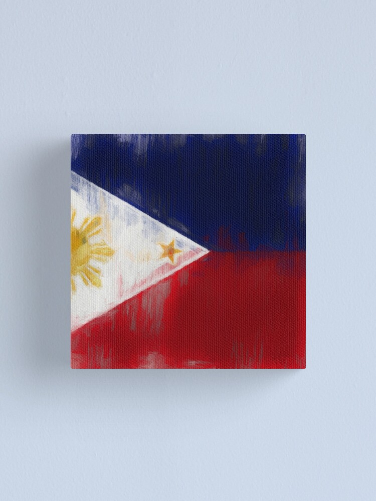Alternate view of Filipino Flag No. 1, Series 2 Canvas Print