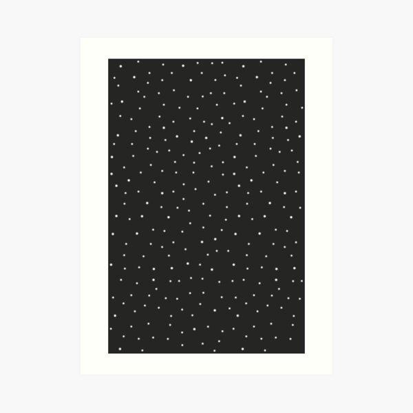 Random Dots on Black Art Print