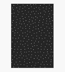 Random Dots on Black Photographic Print