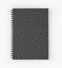 Random Dots on Black Spiral Notebook