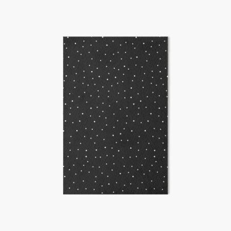 Random Dots on Black Art Board Print