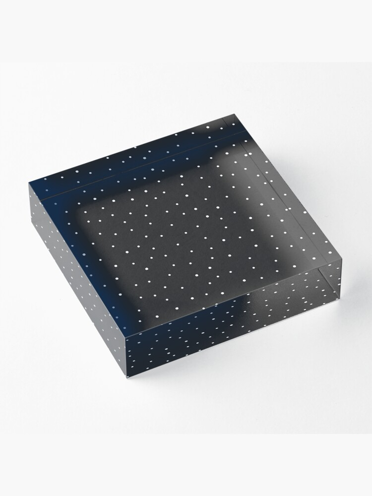 Alternate view of Random Dots on Black Acrylic Block