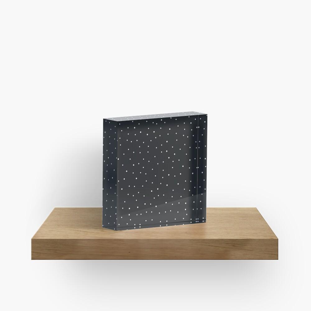 Random Dots on Black Acrylic Block